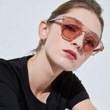 Retro sunglasses women round frame 2019 brand designer fashion unisex sun glasses male big uv400