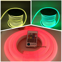 DHL 5 15m mini RGB Neon flex,72pcs 5050SMD/m color changing led neon tube with remote controler ,220 240V led sign board tube