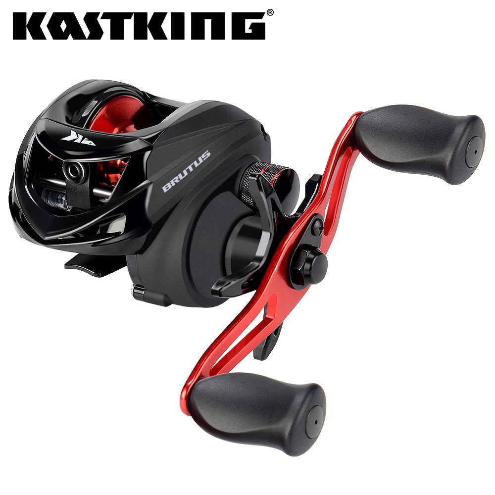 بكرة لصيد الأسماك من KastKing Brutus منخفض المستوى إطار من الجرافيت بنسبة 6.3: 1 لنسبة التروس 4 + 1 BBs مع ملف نظام سحب القرص الناعم