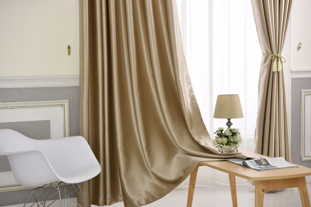Solid color Thickening flannelette Thermal insulation curtains for living room full blackout curtains for bedroom
