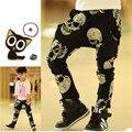 Meninos Meninas Harem Pants Crânio Calças Para Menina Da Criança Do Bebê calças menino Harém Calças Das Crianças Roupa Dos Miúdos Para Meninos meninas