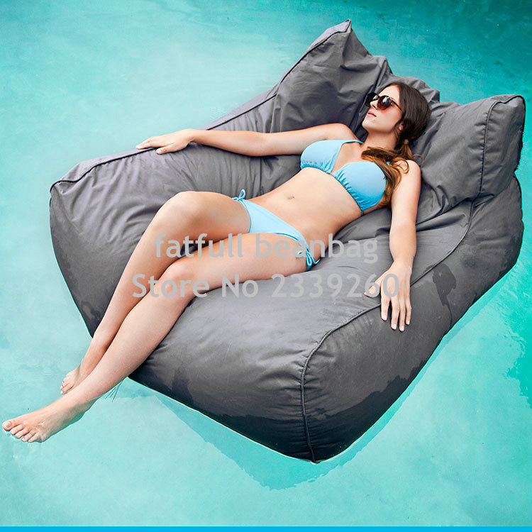 cover only no grey oversized luxury comfortably accommodate two adults float beanbag - Oversized Bean Bag Chairs