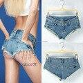 Горячая! Бесплатная доставка женские сексуальные шорты низкой талией для мытья джинсовые шорты джинсы Nighclub дискотека ночной клуб носить шорты джинсы S / M / L
