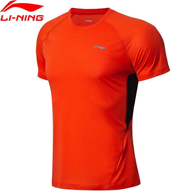 Li-Ning Men Running T-Shirts For Jogger AT DRY SMART 100% Polyester Slim Fit T-shirt LiNing Sports Tees Tops ATSN093 MTS2795