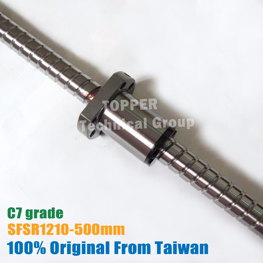Taiwan TBI 1210 Ball screws 500mm C7 SFS1210 nut for linear CNC Router Parts with end