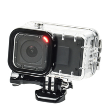 цена на GoPro Session Extend Battery 1050 mAH Backup Battery + GoPro Hero 4 Session Waterproof housing Case Box For GoPro Accessory