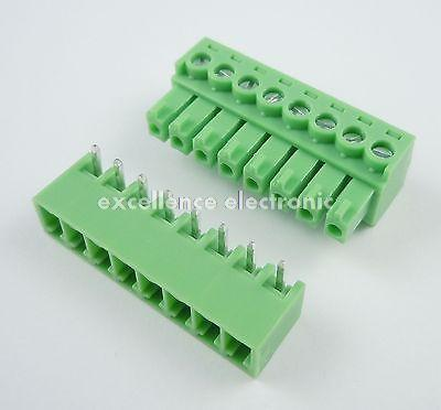 ФОТО 50 Pcs 3.81mm Pitch 8 Pin Angle Screw Pluggable Terminal Block Plug Connector 15EDG