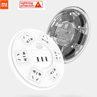 Xiaomi TP Lightning protection Power Strip 6 Ports with 3 USB 2500W 10A Fast Charging 2.1A USB Surge Protect Power Plug Charger