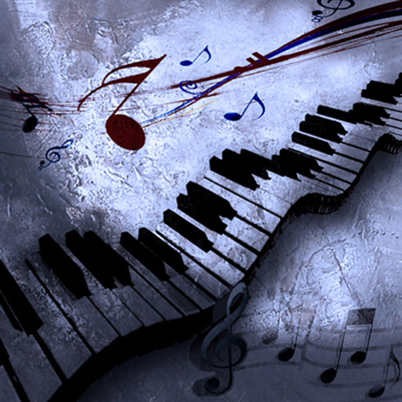 Free Shipping Beautiful Hand Painted Oil Painting Music