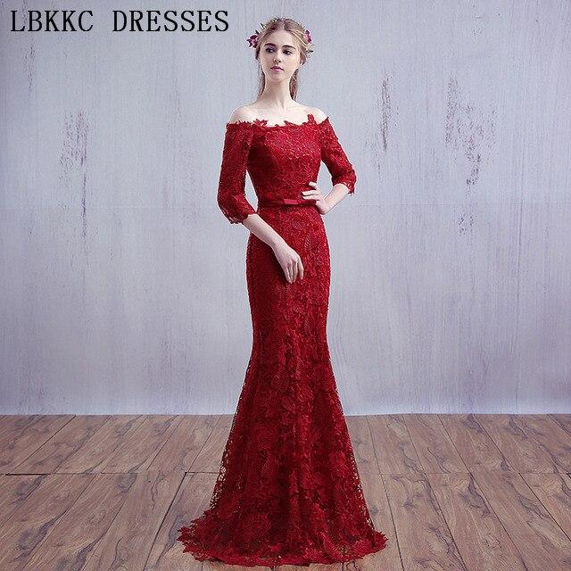 Gala En Feestjurken.Off The Shoulder Lace Prom Dresses Mermaid Gala Jurken Vestido De