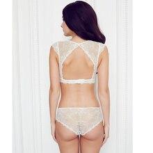 Sexy Mousse Transparent  Lace Bra Set Deep V Lingerie Ultra-thin Bra Breifs Set Unlined women's underwear sets Full Soft Cup
