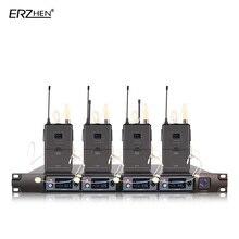 Беспроводной микрофон 4 приемника 4 наушники профессиональный микрофон 4 канала беспроводной передатчик на лацкан + УВЧ 4000E