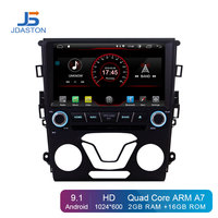 JDASTON Android 9.1 Car DVD Player For Ford Mondeo Fusion 2013 2014 WIFI GPS Navigation 2 Din Car Radio Stereo Multimedia RDS