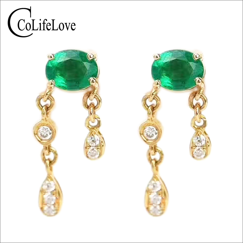 Romantic emerald drop earrings 4 mm * 5 mm natural emerald silver earrings 925 sterling silver emerald jewelry for wedding fashion emerald bracelet for evening party 8 pcs 3 mm 5 mm natural emerald bracelet 925 sterling silver emerald jewelry