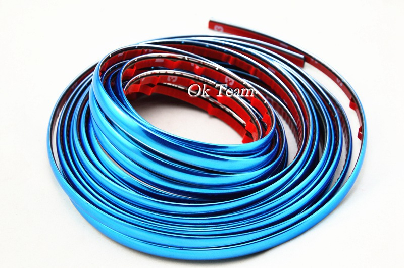 Free shipping 8mmX8M DIY CAR INTERIOR EXTERIOR DECORATION MOULDING TRIM STRIP the panoplied of car car styling car Scratch