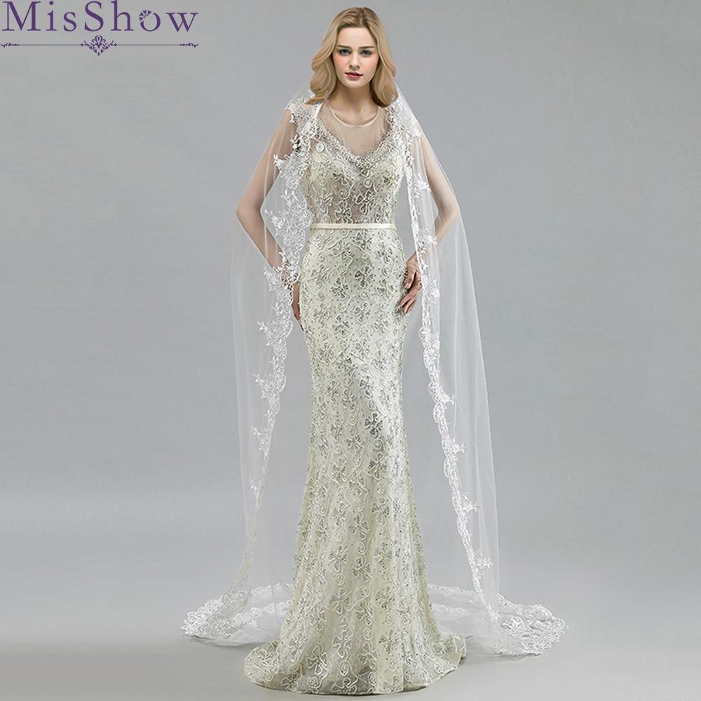 Wedding Accessories 2019 Appliques Tulle Long 3 M Cathedral Long Wedding Veil Lace Edge Bridal Veil with Comb veu de noiva longo