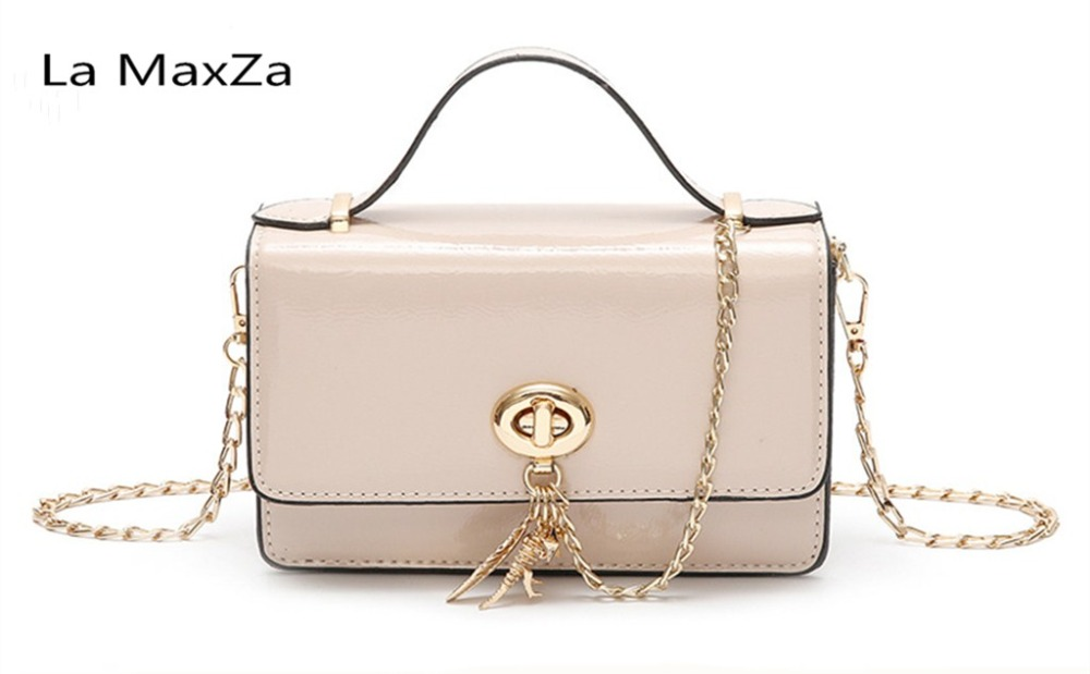 La MaxZa 2018 PU leather new retro style girls small bag cross paragraph square solid women's shoulder bag
