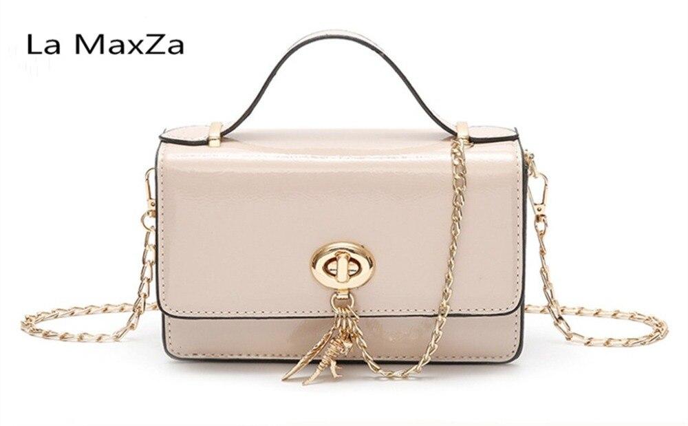 La maxza 2018 Искусственная кожа новые в стиле ретро для девочек маленькая сумка кросс пункт квадрат твердого женская сумка на плечо