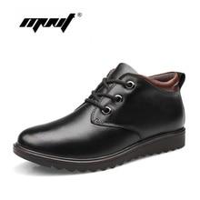 Super warm genuine leather men winter boots brand fashion snow boots,comfortable ankle boots plus size men winter shoes
