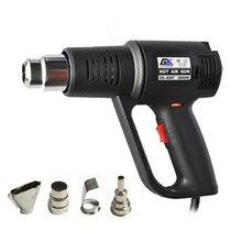 цены Hot Air Gun Handheld Car Foil Bake Gun Tool Drying Gun Industrial Hot Hair Dryer Shrink Film Thermostat GS-820T