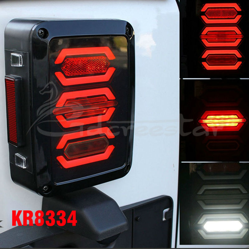 EU / US Standard Pair of LED Reverse Backup Tail Light for Wrangler JK 2007-2016 4x4 4WD 12V LED Running Lights Free shipping patrycja dabrowska eu governance of gmos