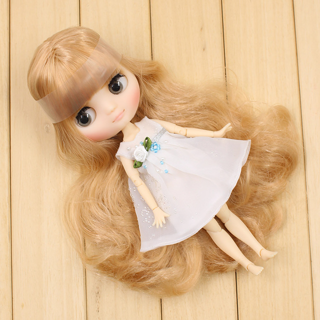 1/8 Middle Blyth clothes White fancy dress 20cm high joint body F&D toys free shipping