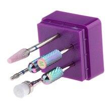 7pcs Carbide Nail Drill Bits Polishing Grinding Head for Electric Nail Machine