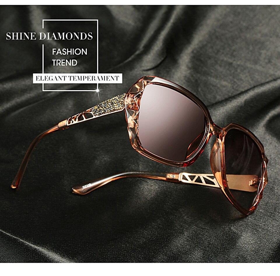 b20c4a81e046 HDCRAFTER Luxury Brand Design Rhinestone Polarized Sunglasses Women Lady  Elegant Big Sun Glasses Female Eyewear. -2 01 -2 02 -2 03 ...