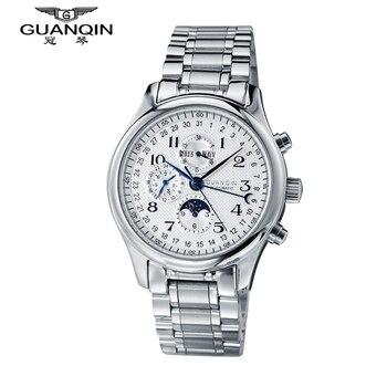 a7b392977132 Marca de lujo guanqin reloj mecánico hombres de moda impermeable a prueba  de choques de lujo