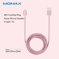 Momax Original3m Fast Data Lightning USB MFi Certified Braided Charging Cable For Apple IPhone 5S 6