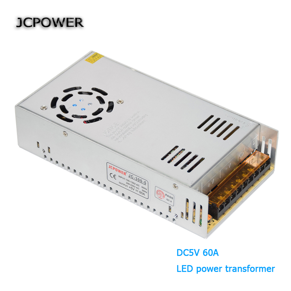 LED Driver110V 220V to DC5V 60A 300W Switching Power Supply Driver for LED Strip AC 110-240V Input to DC 5V free shipping 50w 4 2a input 100v 240v ac to dc12v switching power supply ms 50 12 driver for led light strip transformer free shipping