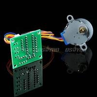 motor drive 2pcs 5V Stepper Motor 28BYJ-48 With Drive Test Module Board ULN2003 5 Line 4 Phase Free Shipping & Drop Shipping (5)