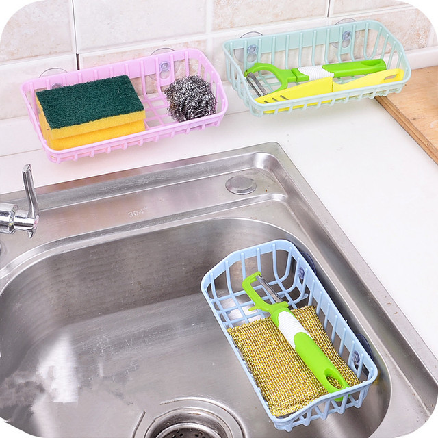 Kitchen Water Tank Storage Rack Double Suction Debris Racks Sinks Corner  Sponge Drainboard Multi Functional