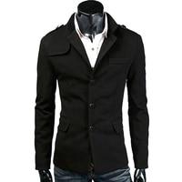 Hot Fashion Top Quality Woolen Mens Casual Blazers Slim Fit Men Business Jacket Coat Suit Blazer