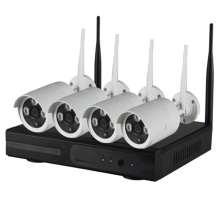 720P CCTV 4CH Wireless Wifi NVR Kit 4 Channel Recorder P2P ONVIF Waterproof Outdoor IP Camera Security System