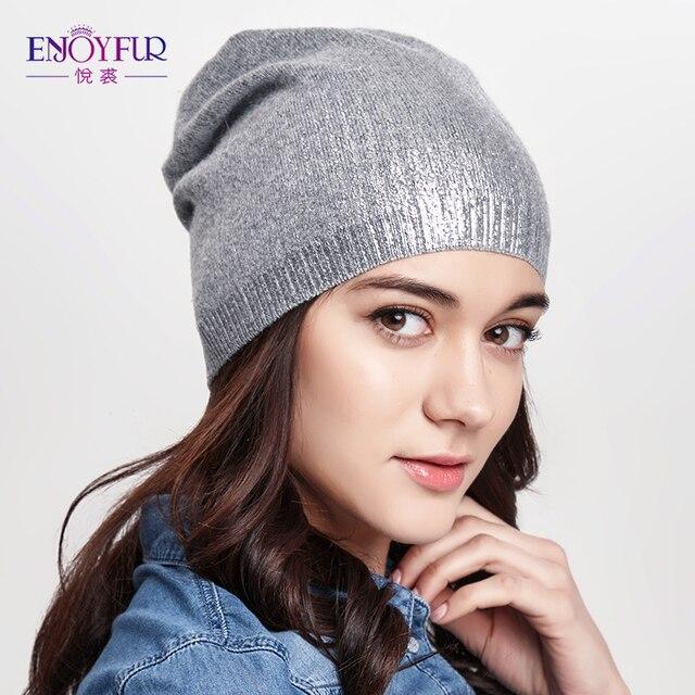 шапка женская весенняя и осенняя вязаная популярная из шерсти в