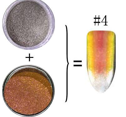 0 2g Chameleon Pigment Duochrome Mirror Powder Chrome Pigment COLORFUL Chameleon Powder Nail Dust Color Shifting Powder 2box set in Nail Glitter from Beauty Health