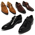 2017 oxford Shoes Deep coffee color /Dark yellow/ black mens business dress shoes genuine leather pointed toe mens wedding shoes