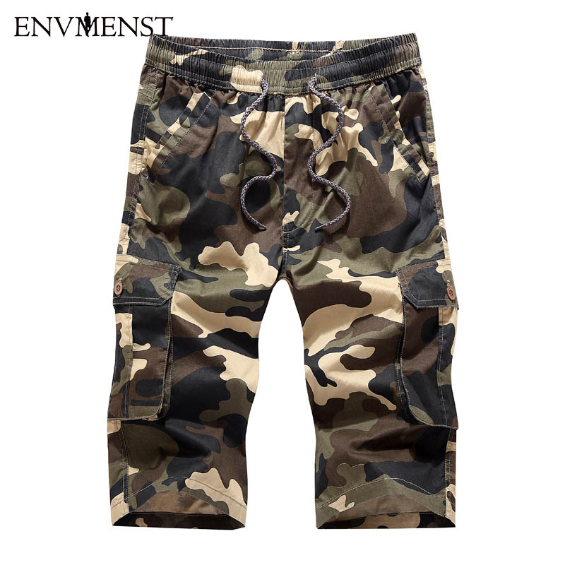 HOT 2017 Casual Brand Clothing Men's Cotton camouflage Beach Board Shorts Men Quick Drying Summer Shorts 3 Colors plus size 4XL