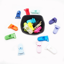 Chenkai 50PCS 20mm Plastic Baby Pacifier Clips Mix Colors Soother Holder Dummy Suspender For Feeding Accessories