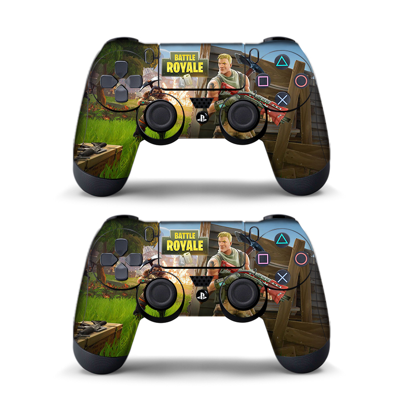 Data Frog 2pcs For Fortress Night Sticker For Sony Playstation4 Game Controller For Ps4 Skin Stickers 11 Styles #5