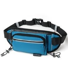 Running Bag with bottle outdoor waist bag belt cellphone Holder Jogging Belt Belly Bag Gym Fitness trail hiking camping travel ring linked belt with bag