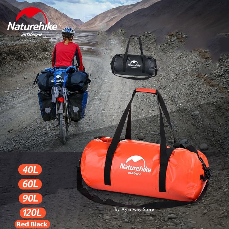Naturetrekking grande capacité sac étanche épais 500D grand sac à main voyage pluie natation vélo voiture bateau sac sec trekking sac à dos