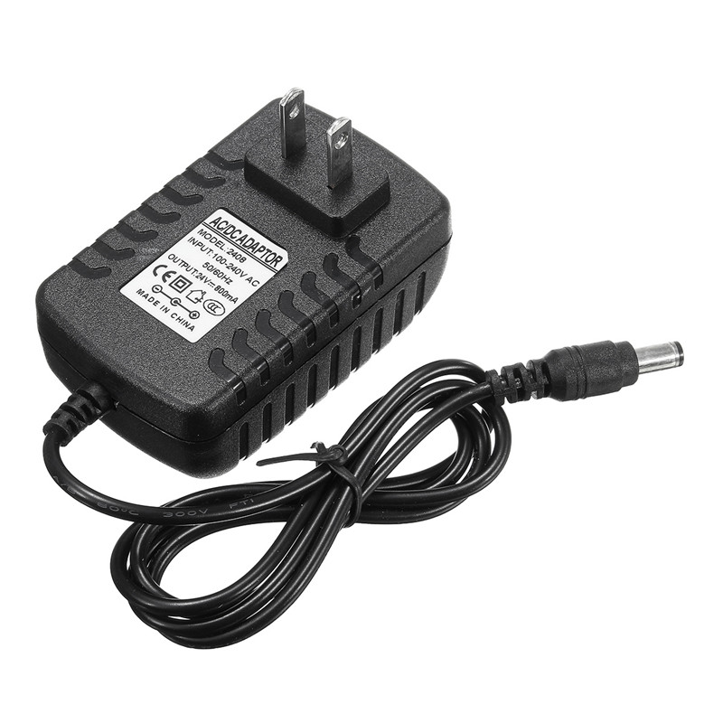 1pcs US Plug AC 110-240V To DC 24V 800mA Black Plastic&Metal Power Supply Adapter US Plug For Mist Maker Fogger 100pcs us eu uk au plug ac line 1 5m dc line 1 2m ac100 240v to dc 24v 1a 24w power adapter 24v1a ac adapter