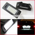 2X E-marked OBC Error Free 24 LED White License Number Plate Light Lamp For BMW E81 E82 E90 E91 E92 E93 E60 E61 E39 X1/E84