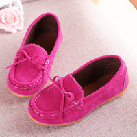 Kids Baby Boys Girls Soft Leather Suede Bow Casual Dance Toddler Infantil Shoes For Children Girls