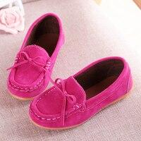 ילדים בנות בייבי פעוט infantil נעלי ריקוד מזדמנים קשת זמש עור רך עבור נעלי בנות ילדי רוז אדום 2 3 4 5 6 שנה 21