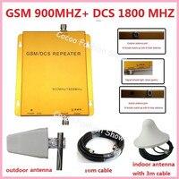 Repetidor de sinal de celular booster 900 MHz 1800MHz dual band mobile phone signal repeater, gsm 4g cell phone signal amplifier
