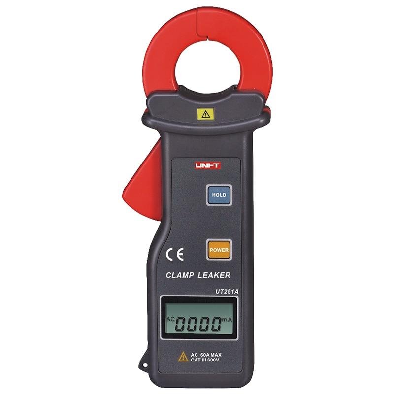 Original UNI-T UT251A Ammeter Multitester 10000 Counts RS-232 Leakage Current Clamp Meter w/99 Data Logging