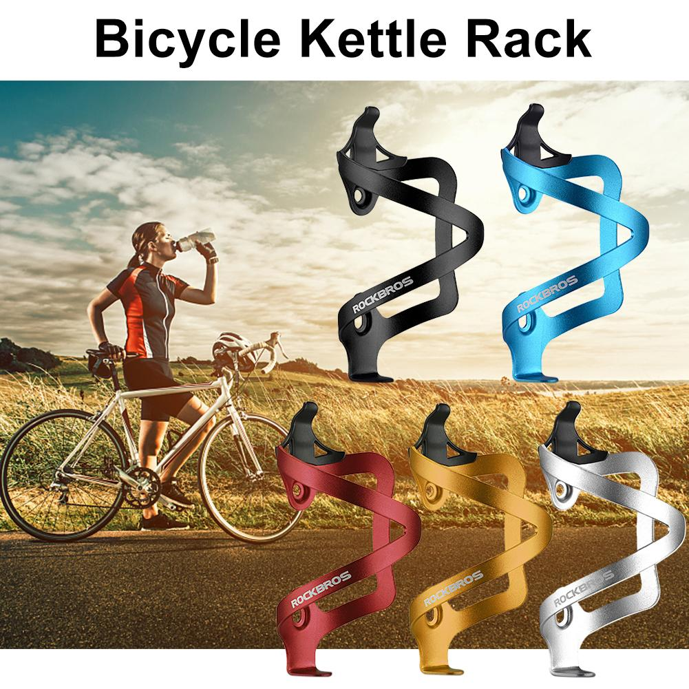 ROCKBROS Cycling Aluminium Alloy Adjustable Water Bottle Cage Mountain Bike Bicycle Bottle Holder Bisiklet Aksesuar Rack Mount